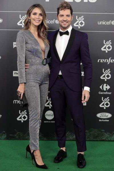 Singer David Bisbal,Rosanna Zanetti at photocall of the 40 Principales Music Awards in Madrid , on Friday 02 November 2018.